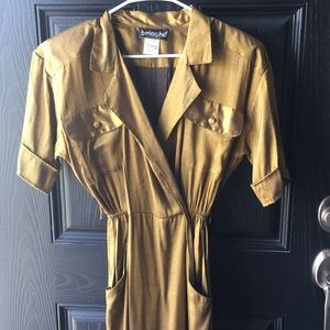 Vintage Gold Brioche Dress